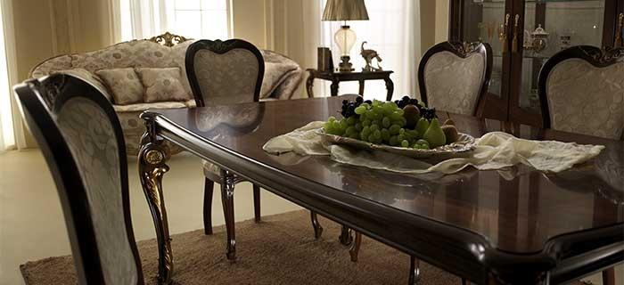 arredoclassic donatello soggiorno tavolo sedie completo