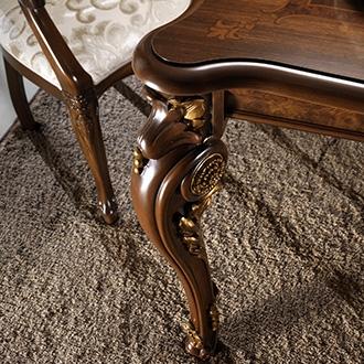 arredoclassic donatello soggiorno tavolo sedie dettaglio