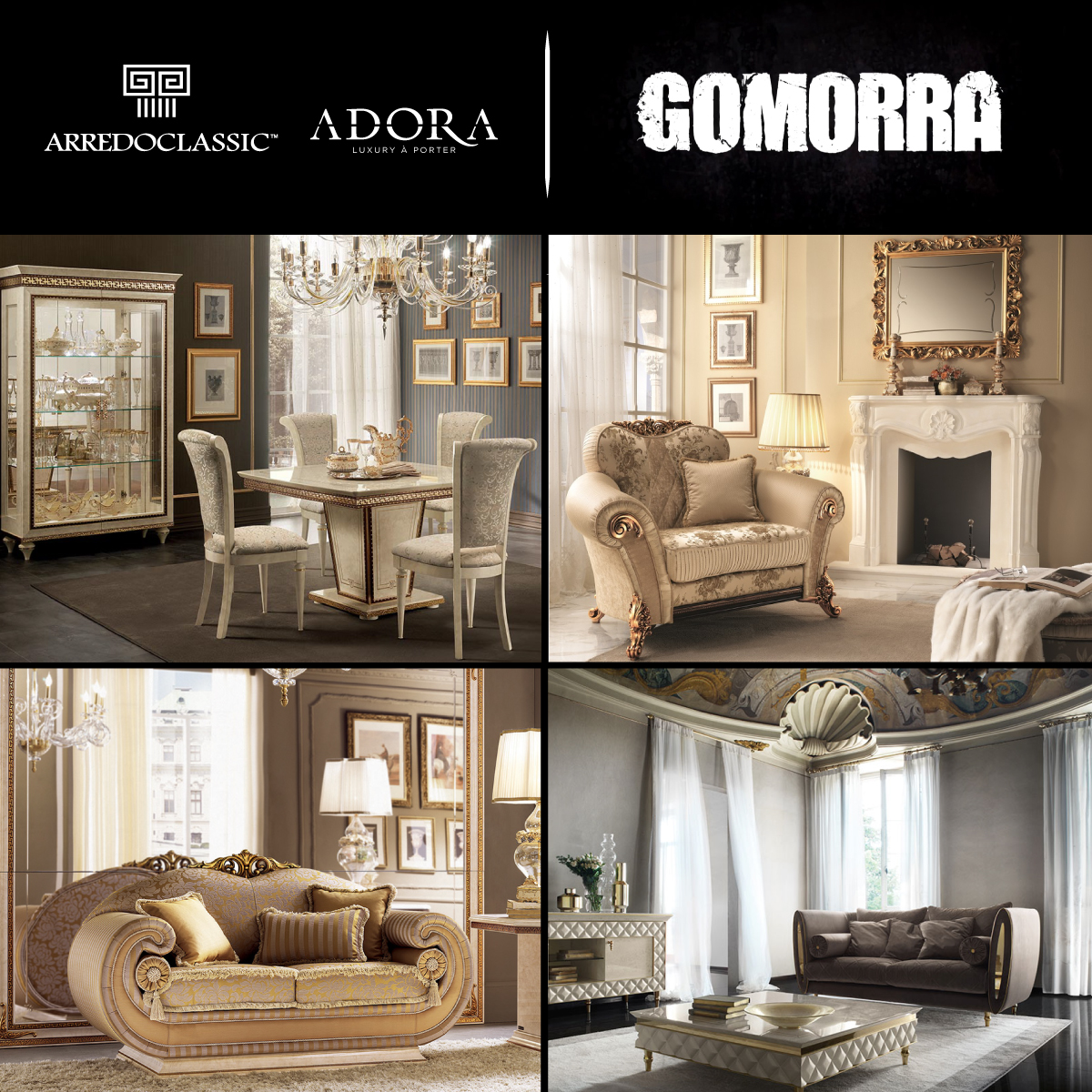 Arredoclassic and Adora, the stars of Gomorra 4